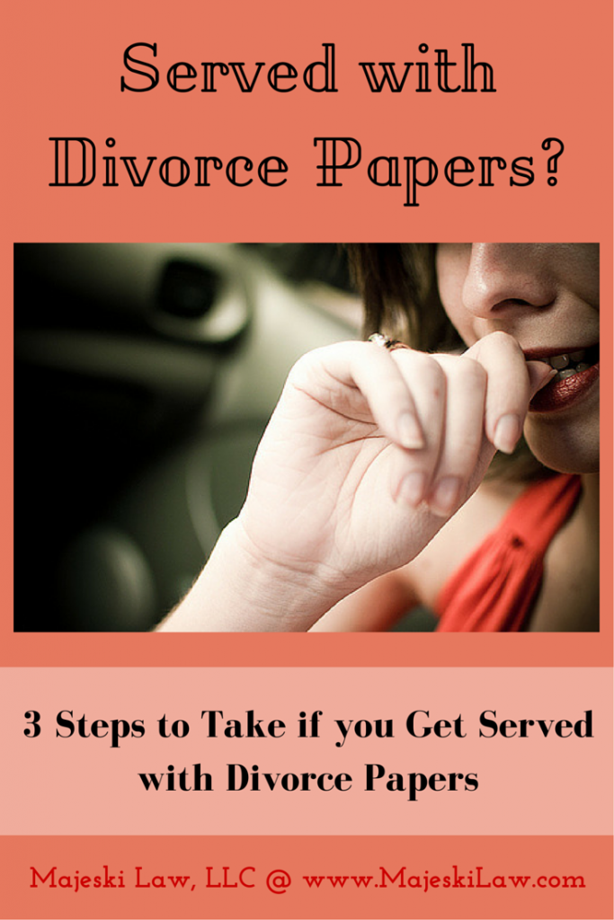 Served Divorce Papers