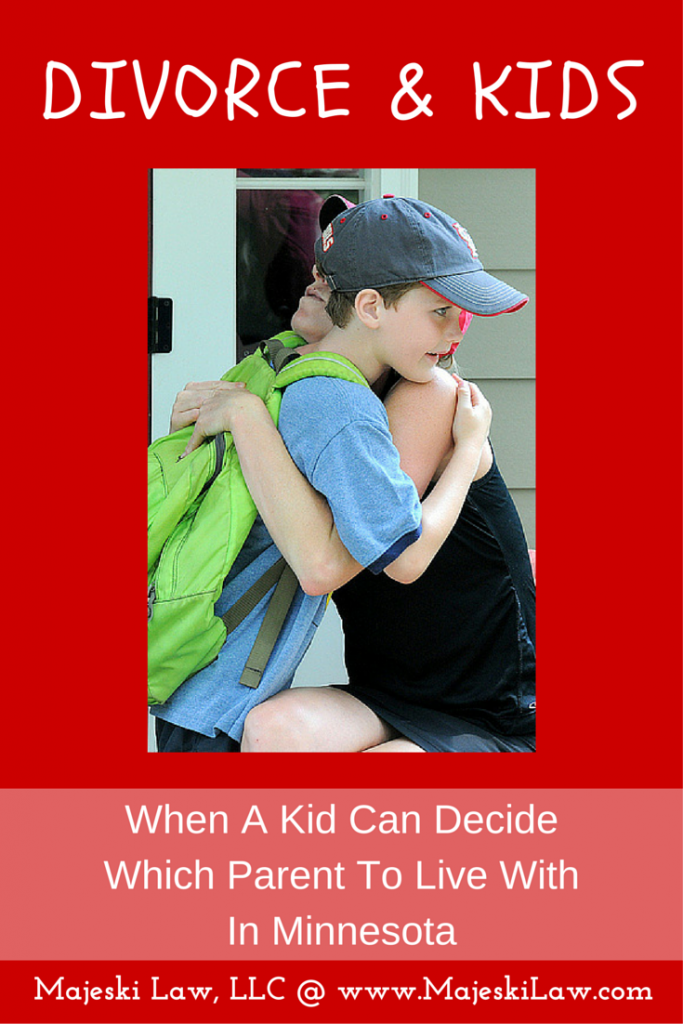 when can a child decide which parent to live with
