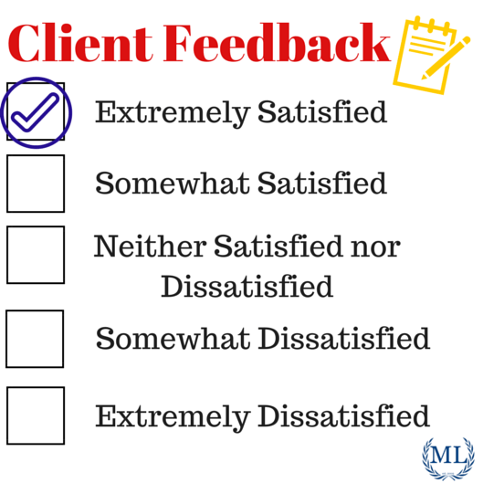 testimonials and client reviews