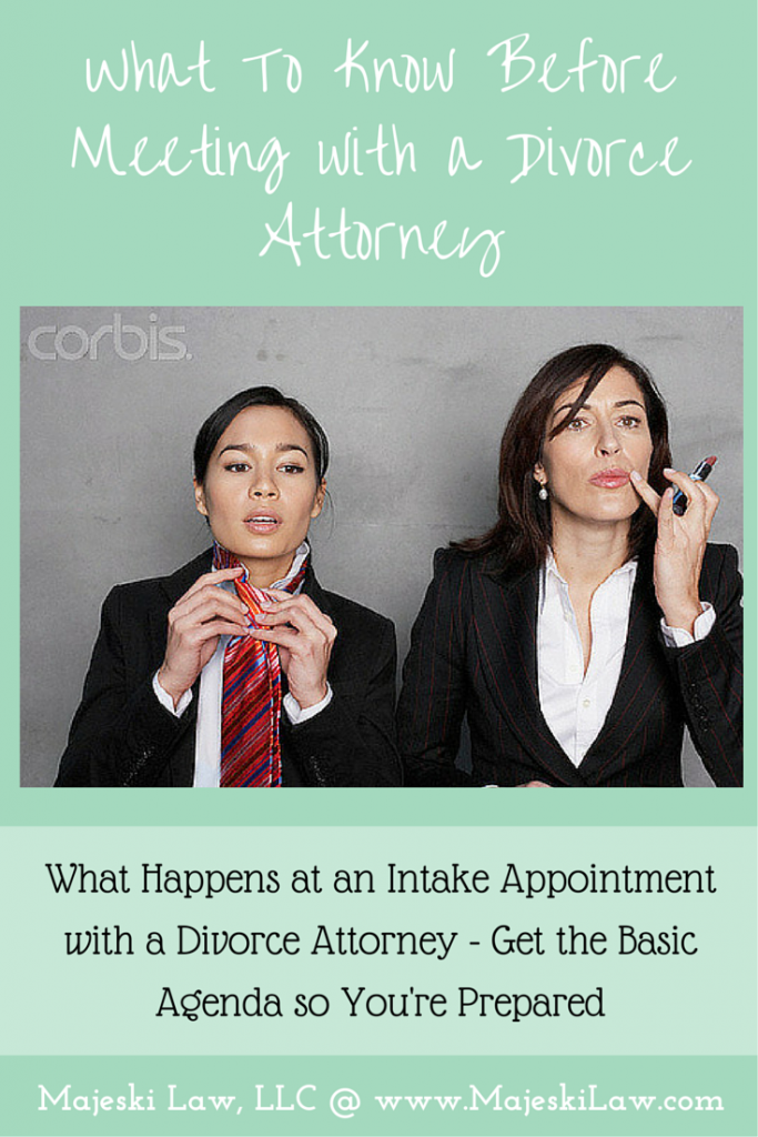Intake with a Divorce Attorney