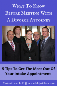 directions to majeski law meeting with a divorce attorney