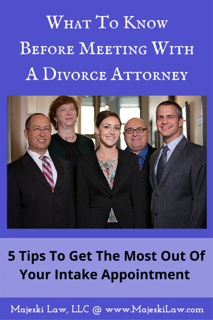 meeting with a divorce attorney