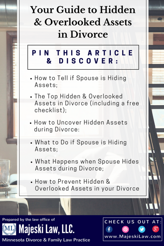 Hiding assets in divorce