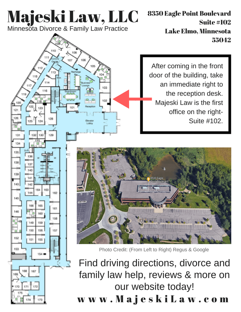 Directions to Majeski Law Office and Map of Office Building