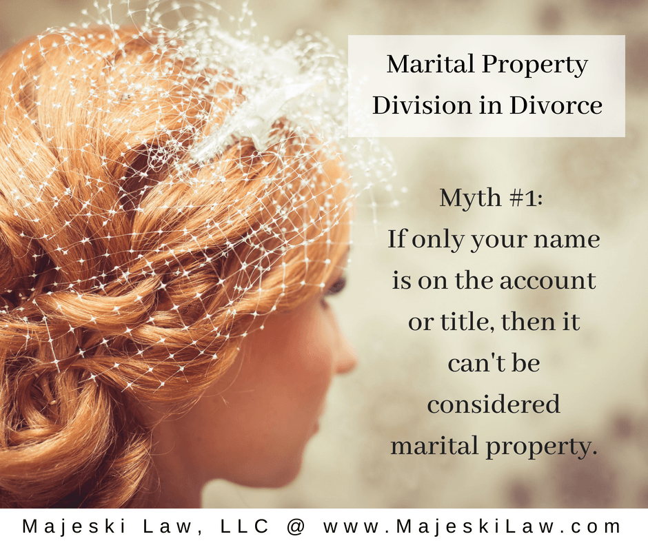 Marital property division in Divorce myth 1