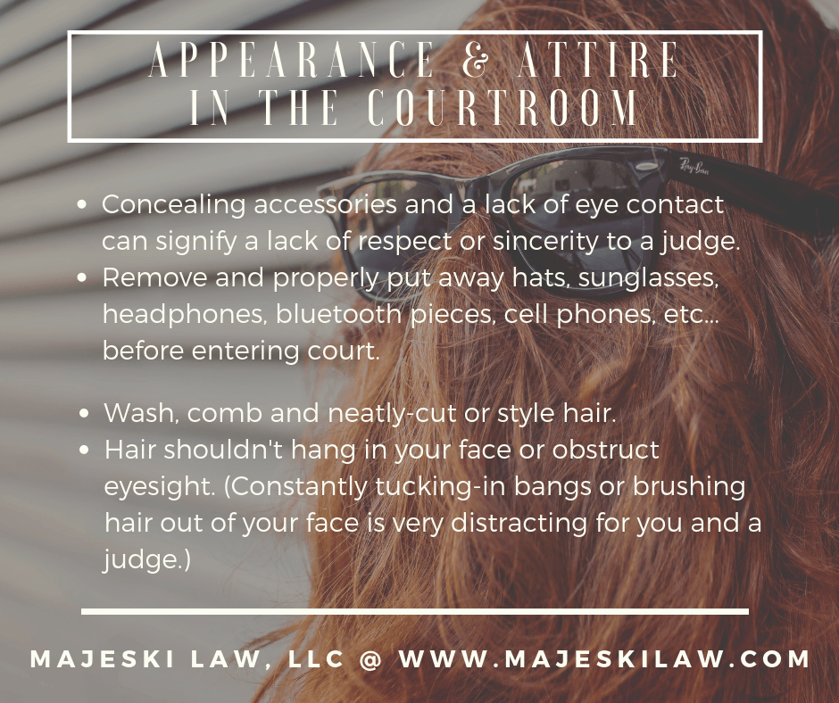 court attire and appearance in the courtroom