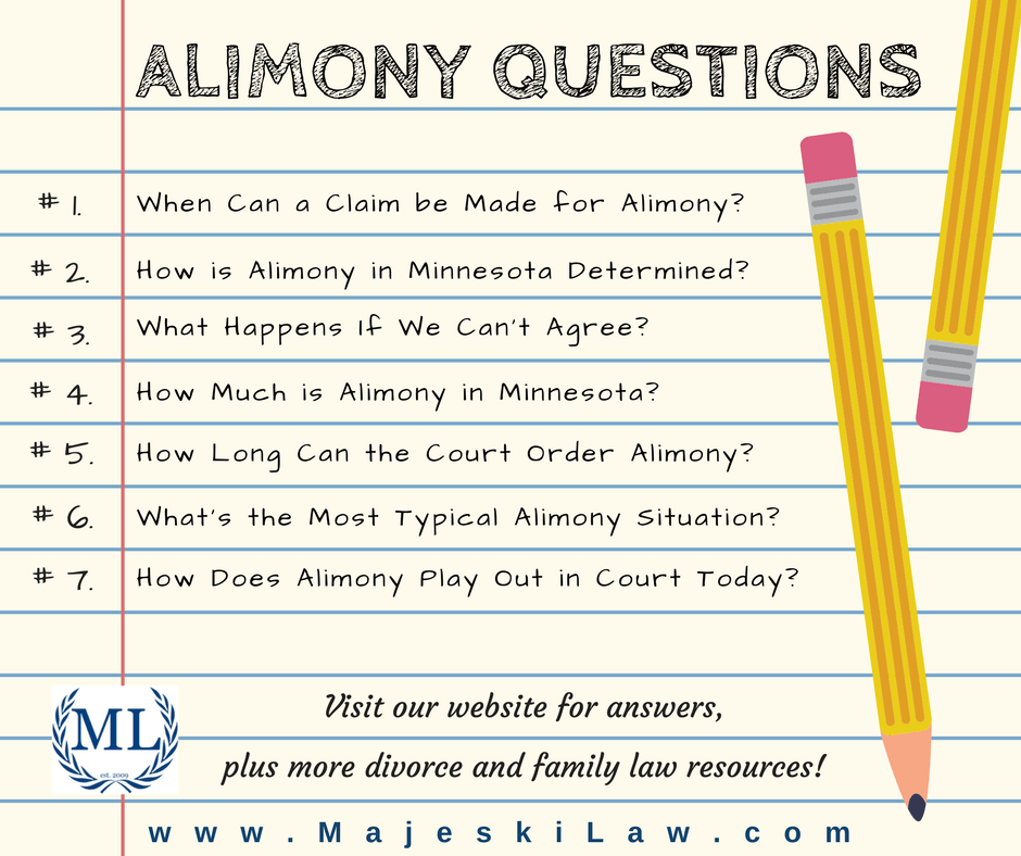 Alimony in Minnesota Questions Answered