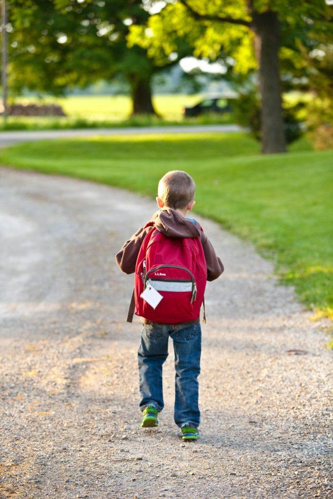 Boy walking to School - Rights to My Child's Information
