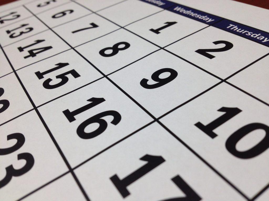 Monthly Calendar - How Long is a Divorce?