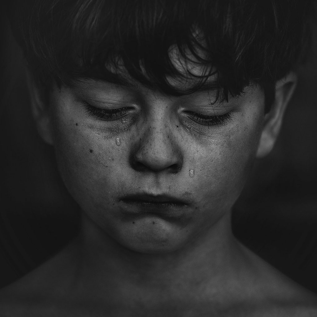 Crying Child.  Can parent force child to visit other parent?