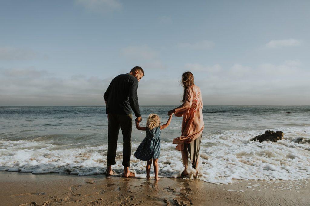 Divorced Parents at a Beach